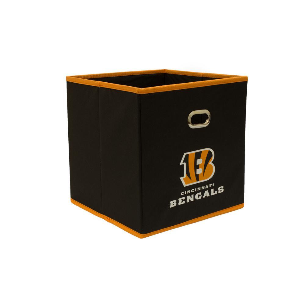 Cincinatti Bengals NFL Store-Its 10-1/2 in. W x 10-1/2 in. H x 11 in. D Black Fabric Drawer