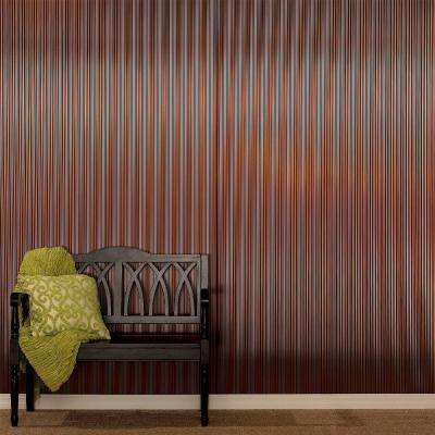 Rib 96 in. x 48 in. Decorative Wall Panel in Fern