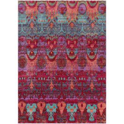 Germili Bright Pink 7 ft. 10 in. x 10 ft. 3 in. Indoor Area Rug