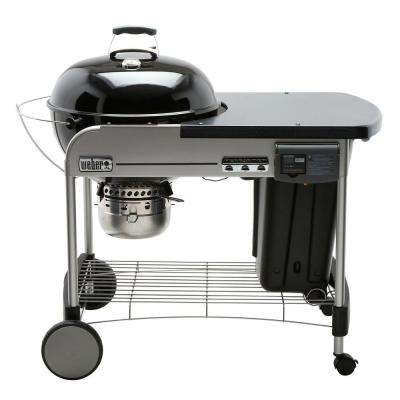 22 in. Performer Deluxe Charcoal Grill in Black with Built-In Thermometer and Digital Timer