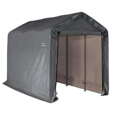 Shed-In-A-Box 6 ft. x 12 ft. x 8 ft. Grey Peak Style Storage Shed