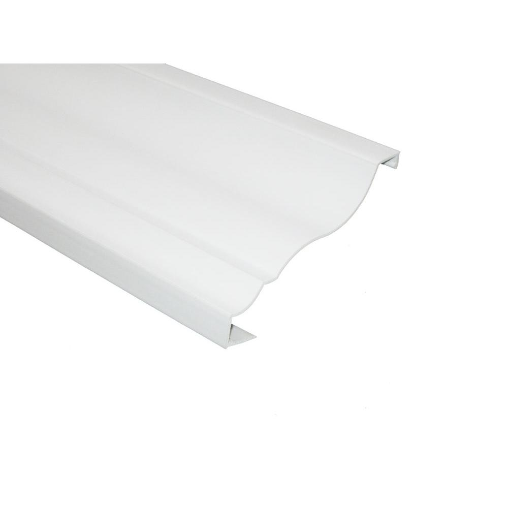 RowlCrown Classic 8 ft. x 4-5/8 in. x 1/8 in. PVC Crown Molding/Wire Raceway Profile