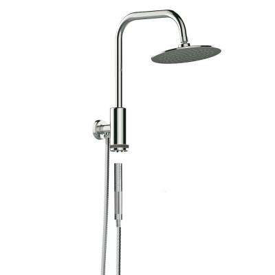Aquarius 1-Spray Hand Shower And Shower Head Combo Kit In Chrome - 1.8 GPM
