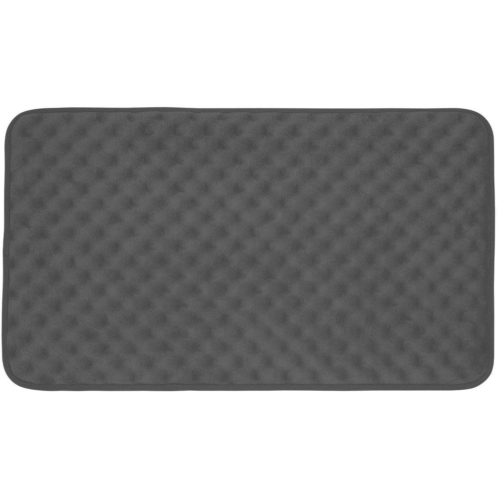 Massage Dark Gray 20 in. x 32 in. Memory Foam Bath