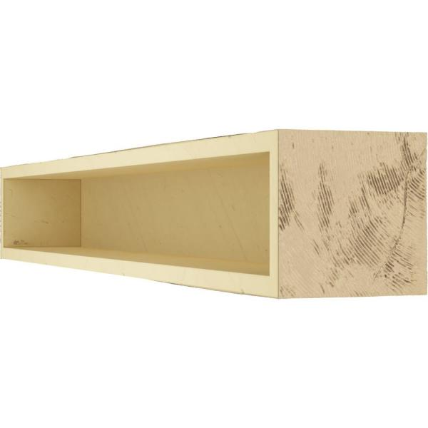 Ekena Millwork 4 In X 4 In X 7 Ft Rough Sawn Faux Wood Beam Fireplace Mantel Natural Pine Manurs04x04x84pp The Home Depot