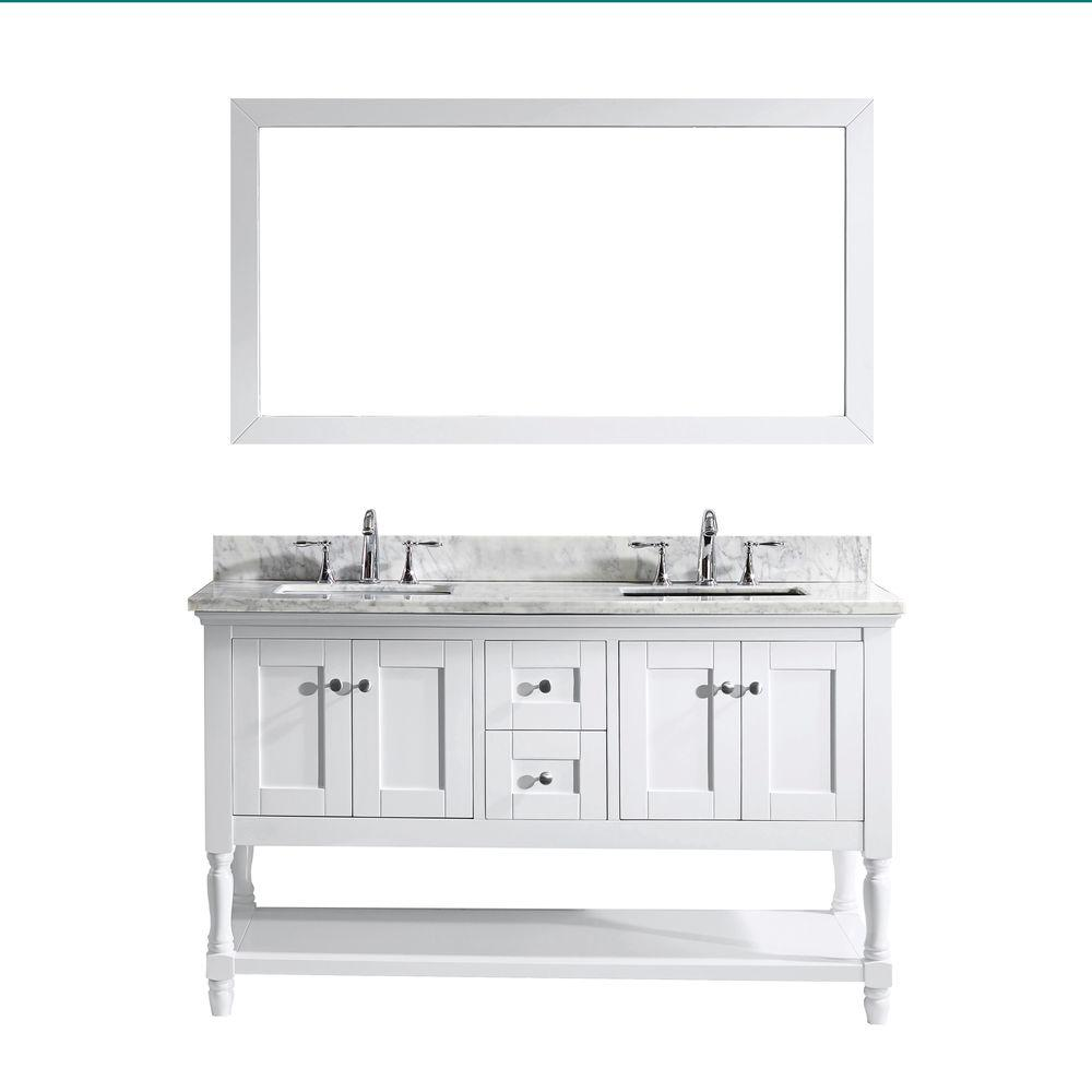 vanity mirror 36 x 60. virtu usa julianna 60 in. w x 36 h vanity with marble mirror