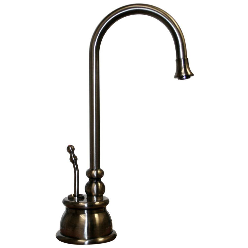 Whitehaus Collection Forever Hot 1-Handle Instant Hot Water Dispenser Faucet in Pewter