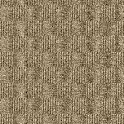 Premium Self-Stick Sophisticated Taupe Pattern 18 in. x 18 in. Carpet Tile (16 Tiles/Case)