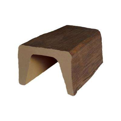 7-7/8 in. x 5-7/8 in. x 6 in. Medium Oak Modern Faux Wood Beam Sample