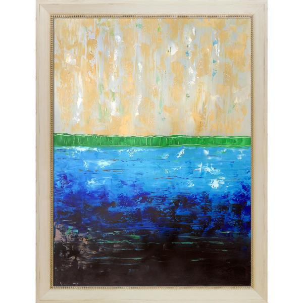 overstockArt Horizon 78 by Lisa Carney Framed Hand Painted Oil on Canvas