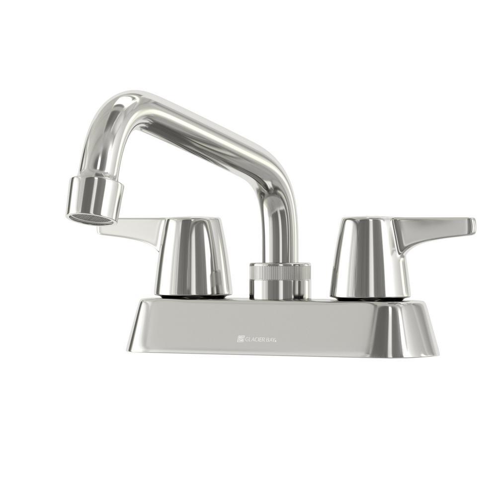 Glacier Bay Aragon 4 In Centerset 2 Handle Laundry Faucet
