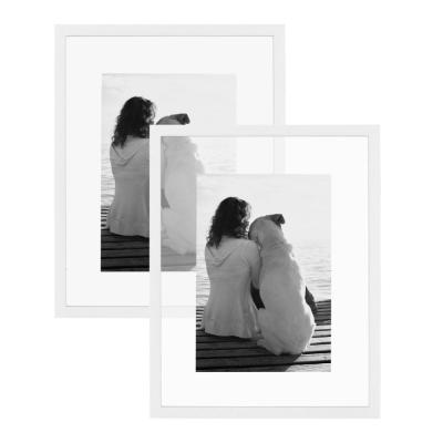 Gallery 14 in. x 18 in. Float White Picture Frame (Set of 2)