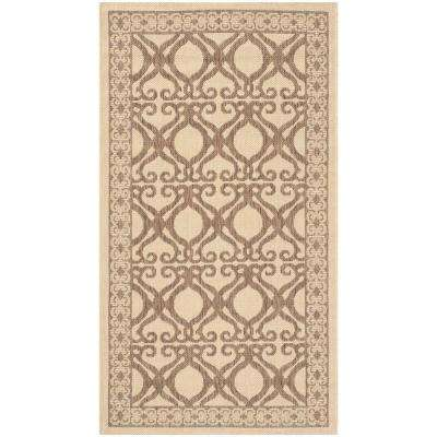 Courtyard Natural/Brown 2 ft. x 4 ft. Indoor/Outdoor Area Rug