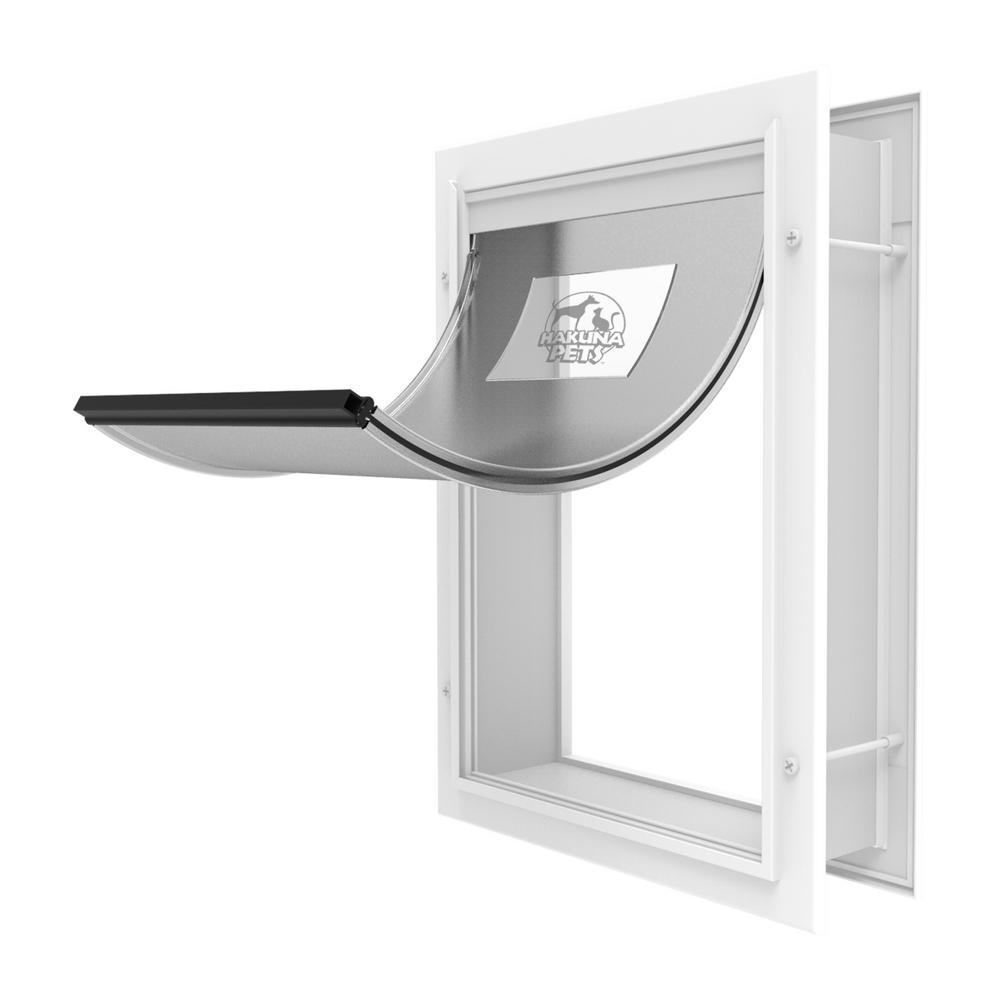 9.33 in. x 12.4 in. Medium Deluxe Aluminum Pet Door
