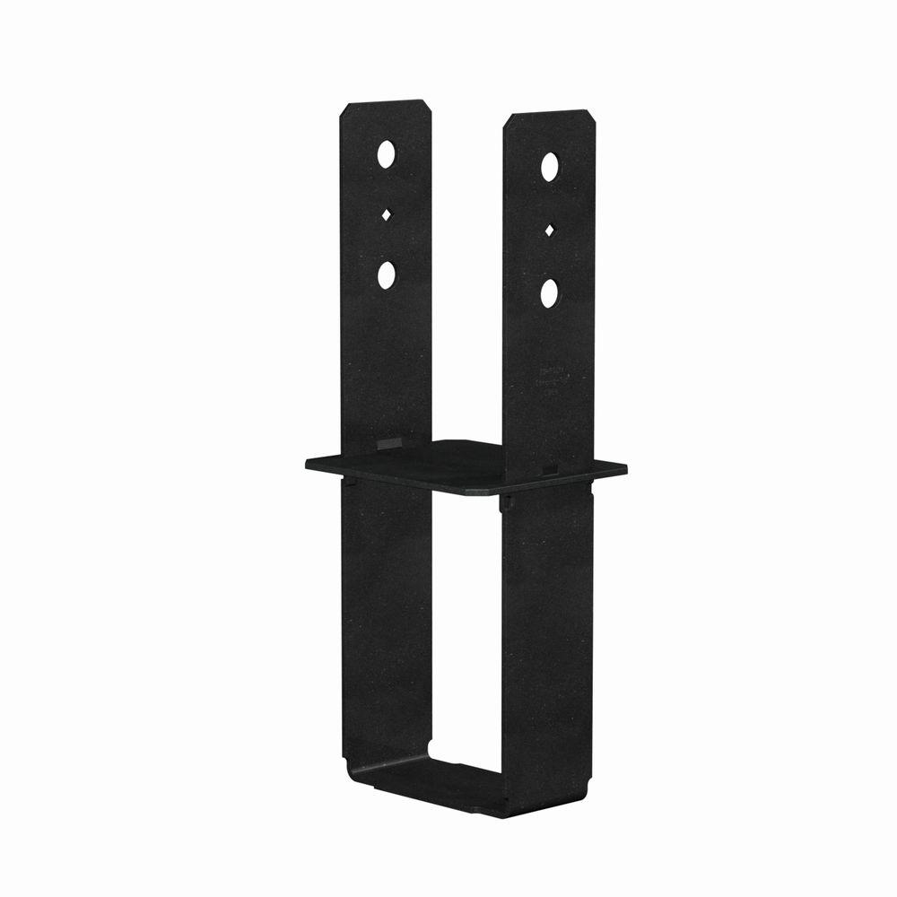 6 in. x 6 in. 7-Gauge Black Powder-Coated Column Base