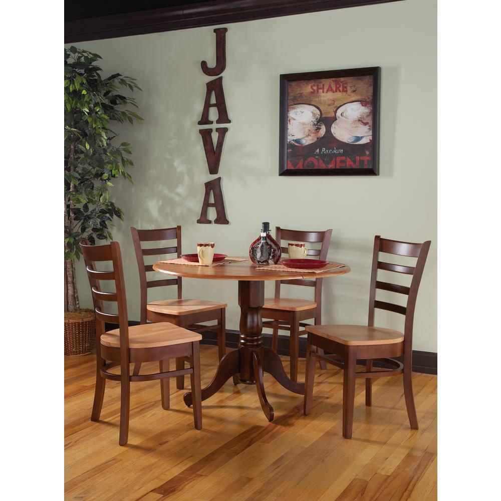 5-Piece Cinnamon and Espresso Dining Set