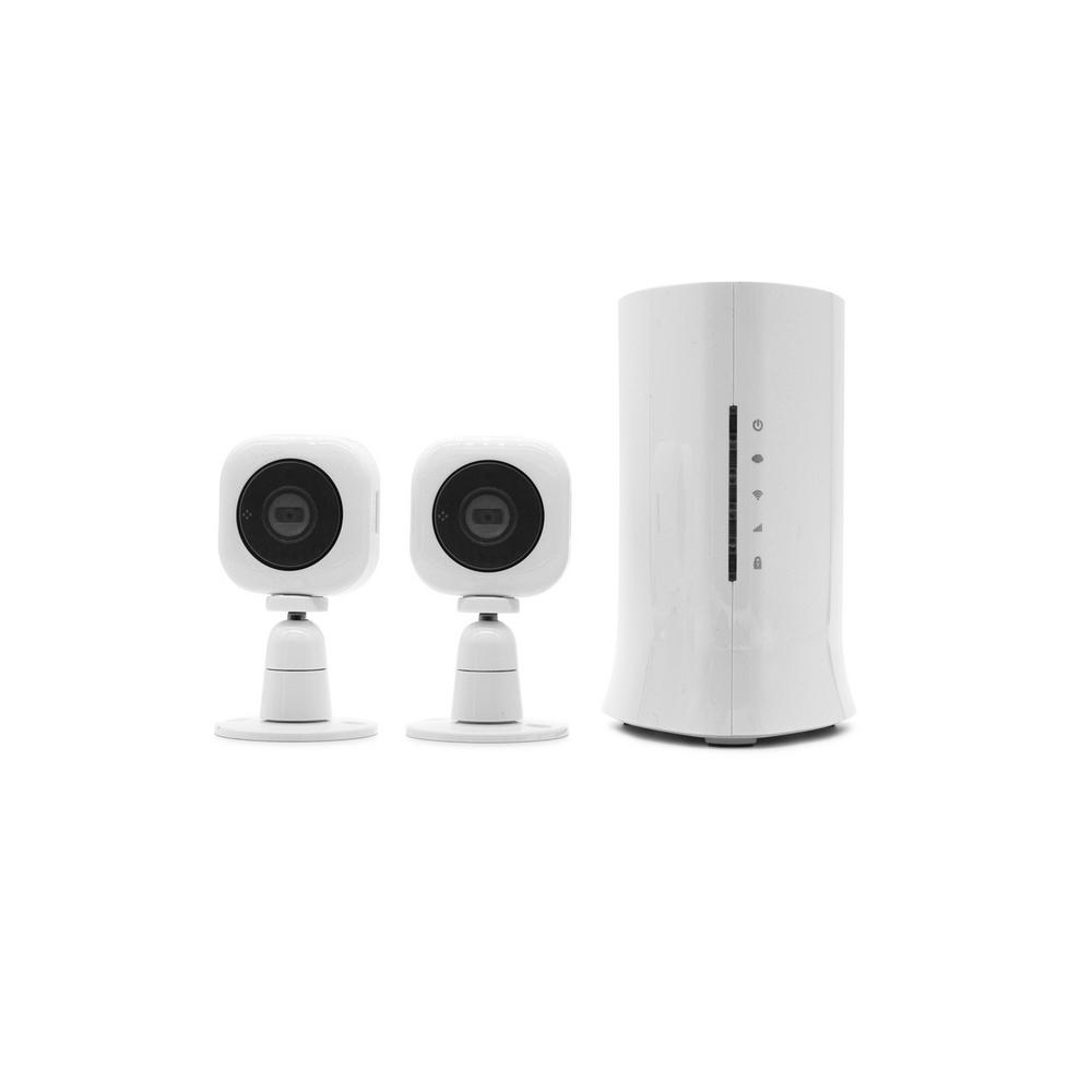video verified monitoringalarm system with 2 cube hd security cameras - Home Depot Security Systems