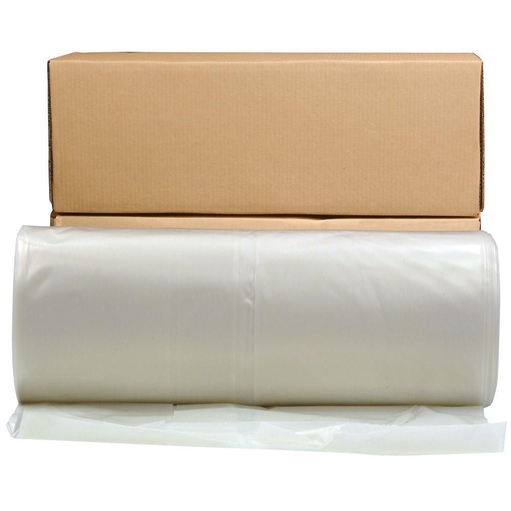 HUSKY 32 ft. x 100 ft. Clear 6 mil Plastic Sheeting