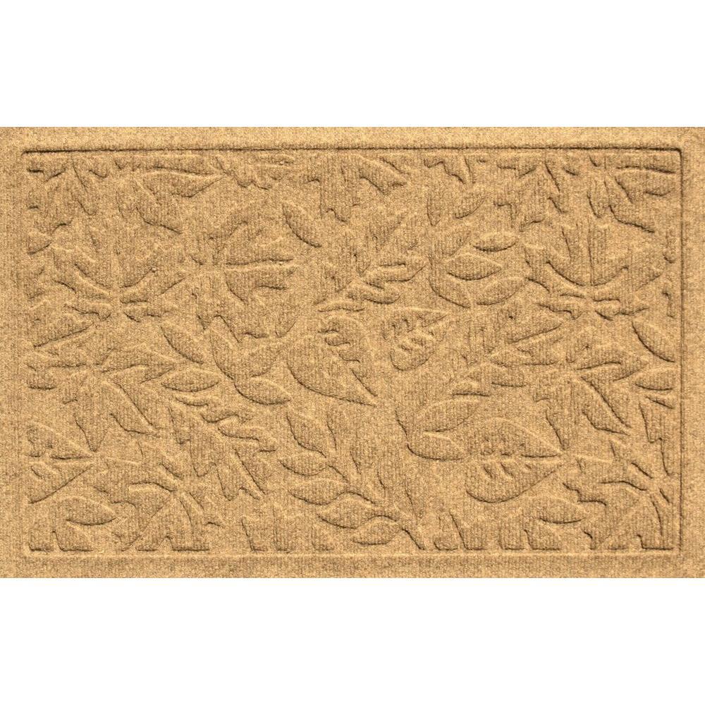 Bungalow Flooring Aqua Shield Fall Day Gold 17.5 in. x 26.5 in. Door Mat