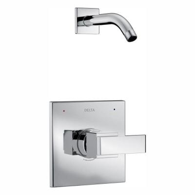 Ara 1-Handle Wall Mount Shower Faucet Trim Kit in Chrome (Valve and Showerhead Not Included)