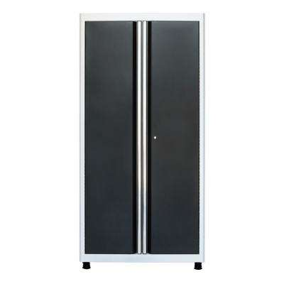 72 in. H x 36 in. W x 18 in. D Welded Steel Floor Freestanding Cabinet in White/Charcoal