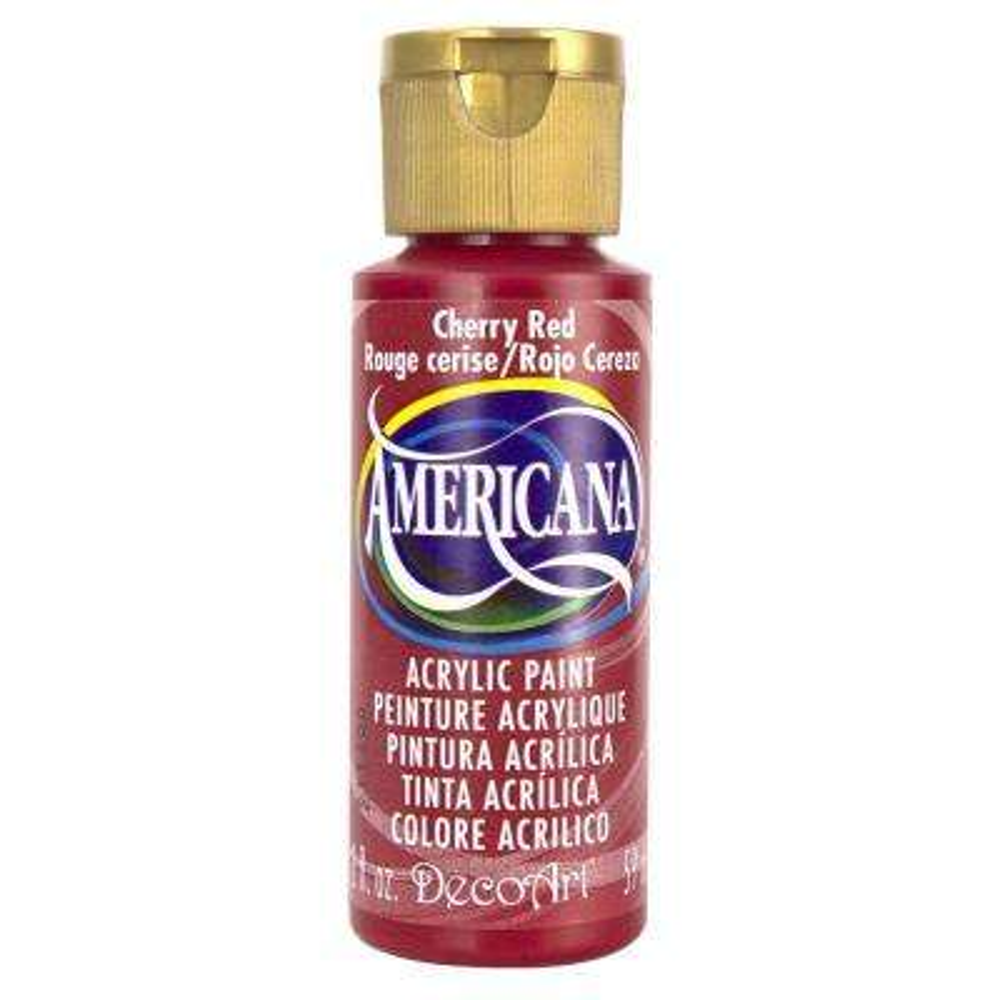 Americana 2 oz. Cherry Red Acrylic Paint