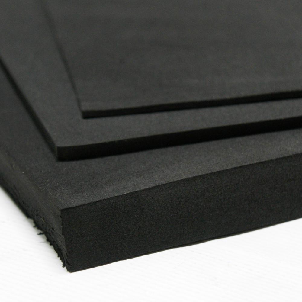 Rubber Cal Closed Cell Sponge Rubber Neoprene 1 In X 39 In X 78 In Black Foam Rubber Sheet 02 128 1000 The Home Depot