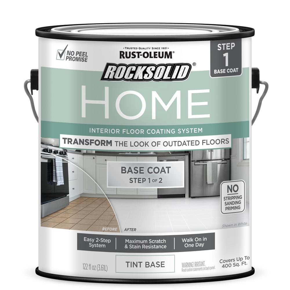 Rust-Oleum RockSolid Home 1 gal. White Tint Base Interior Floor Coating