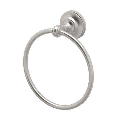 Tavern Towel Ring in Satin Nickel