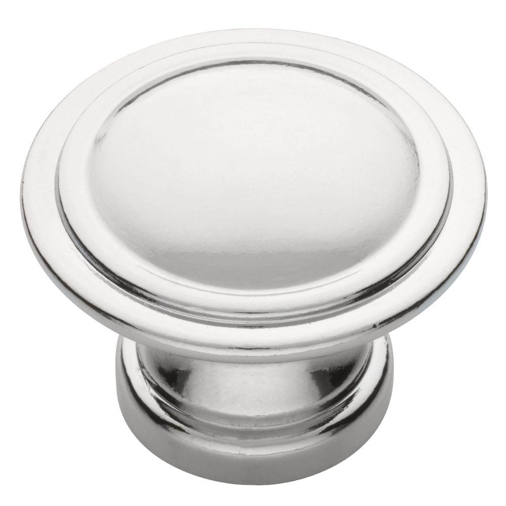 1-1/8 in. Polished Chrome Ridge Cabinet Knob
