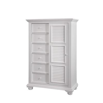Cottage Traditions 8-Drawer Antique White  Gentleman's Chest of Drawers