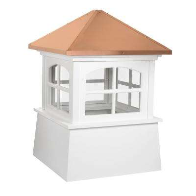 Huntington 30 in. x 43 in. Vinyl Cupola with Copper Roof