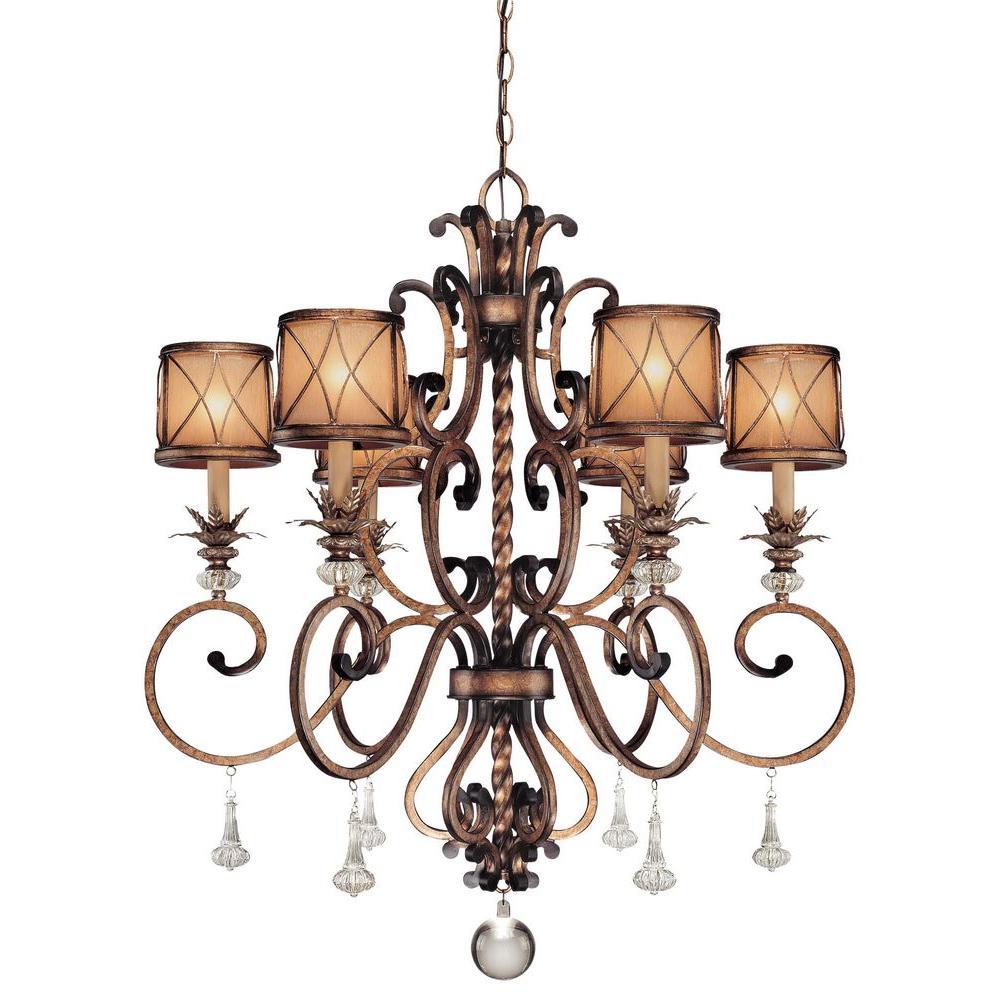 Aston Court 6-Light Bronze Chandelier