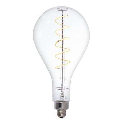 40W Equivalent Amber Light PS52 Dimmable LED Grand Filament Pear Shaped Nostalgic Light Bulb
