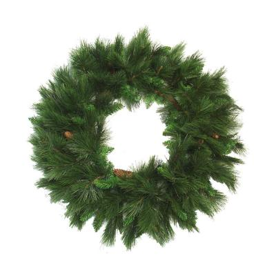 36 in. Unlit White Valley Pine Artificial Christmas Wreath