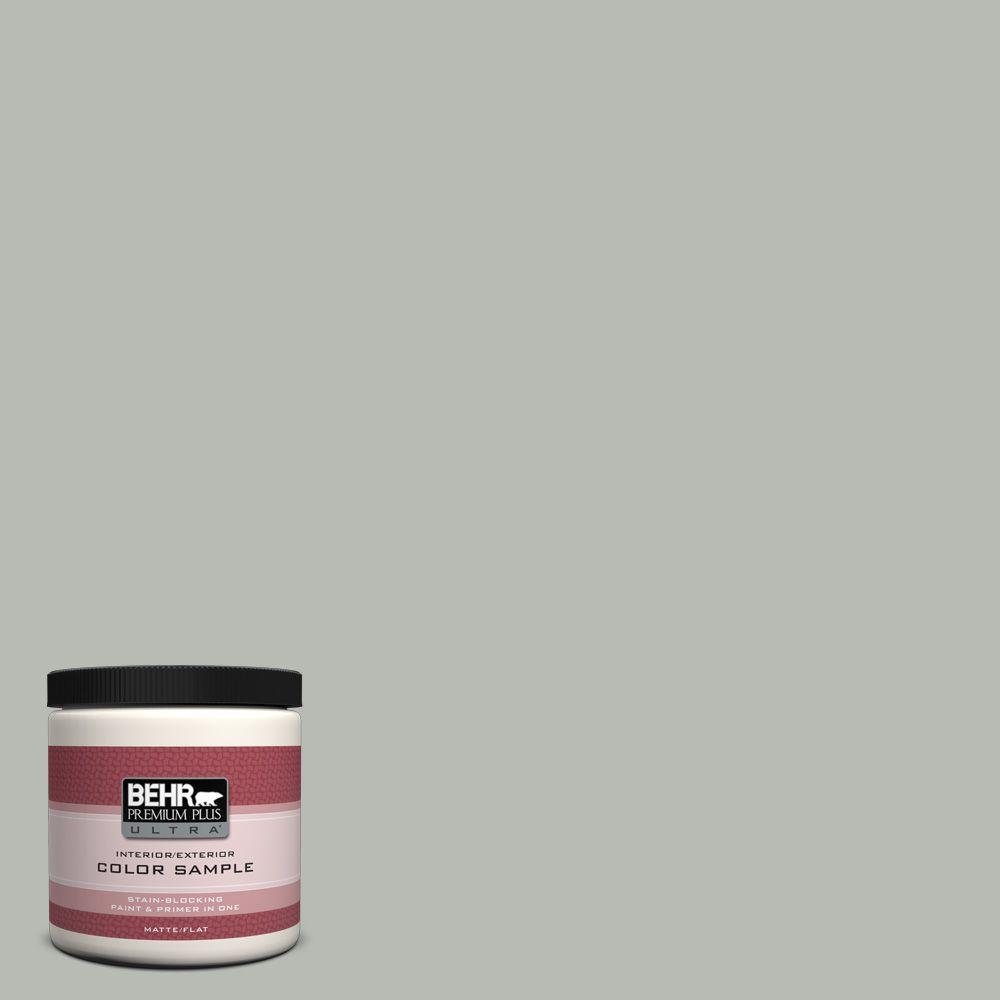 BEHR Premium Plus Ultra 8 oz. Home Decorators Collection Keystone Gray Interior/Exterior Paint Sample