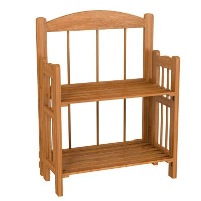 20.25 in. Cedar Wood 2-shelf Accent Bookcase with Open Back