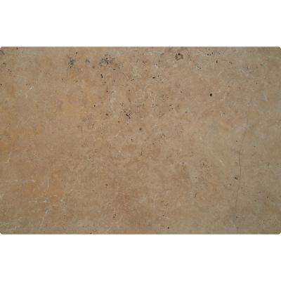 Mediterranean Walnut 6 in. x 12 in. x 1.2 in. Chiseled Travertine Paver Tile (187-Pieces/93.5 sq. ft./Pallet)