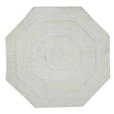 Micro Frs Ivory 48 in. x 48 in. Cotton Bath Rug