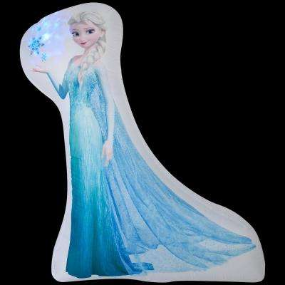 69.69 in. W x 20.87 in. D x 59.84 in. H Photorealistic Inflatable Elsa (BBW)