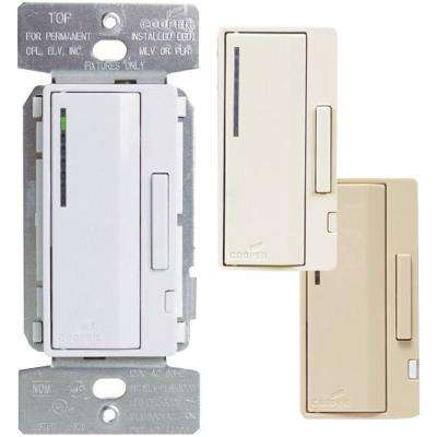 Accell AL Series Smart Dimmer Color Change Faceplate Kit, Light Almond/White/Ivory