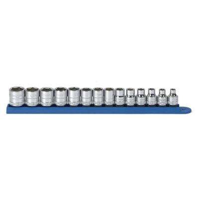 3/8 in. Drive Metric 6-Point Standard Socket Set (14-Piece)