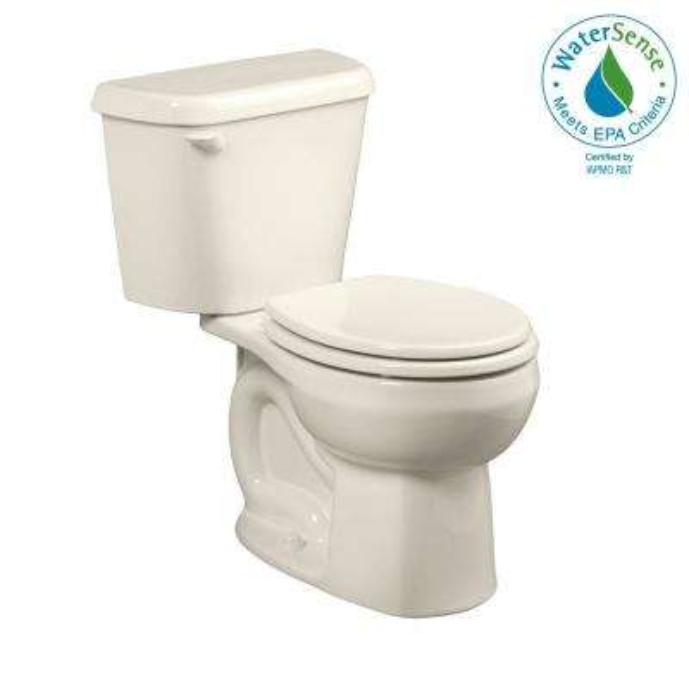 Colony 2-piece 1.28 GPF Single Flush Round Toilet in Linen