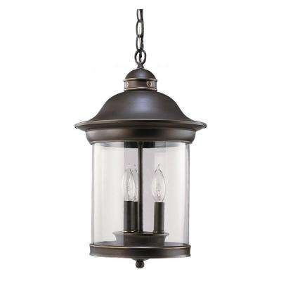 Hermitage 3-Light Antique Bronze Outdoor Hanging Pendant