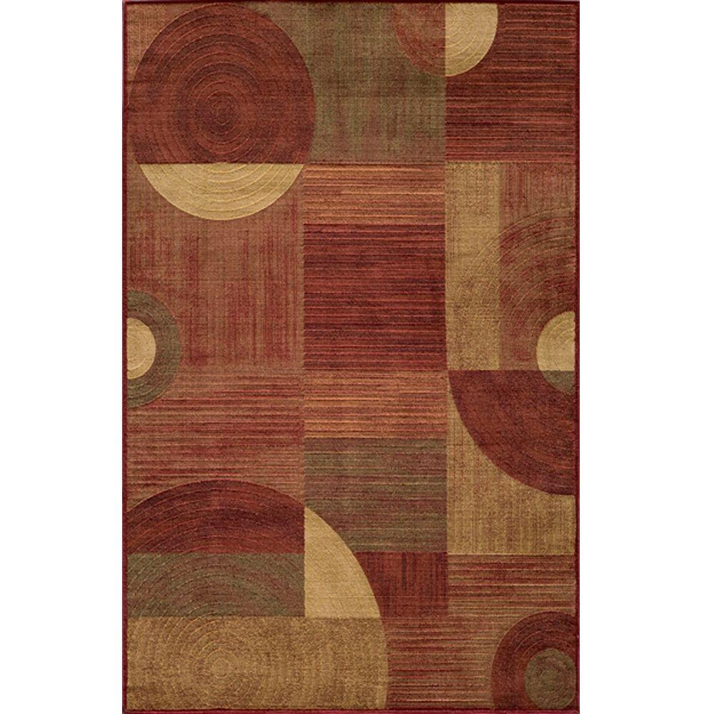 Momeni Marvelous Red 5 ft. 3 in. x 7 ft. 6 in. Indoor Area Rug