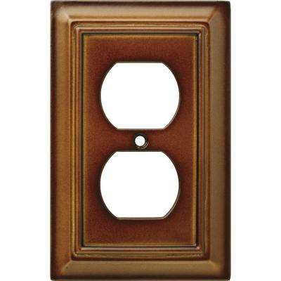 Architectural Wood Decorative Single Duplex Outlet Cover, Saddle (2-Pack)