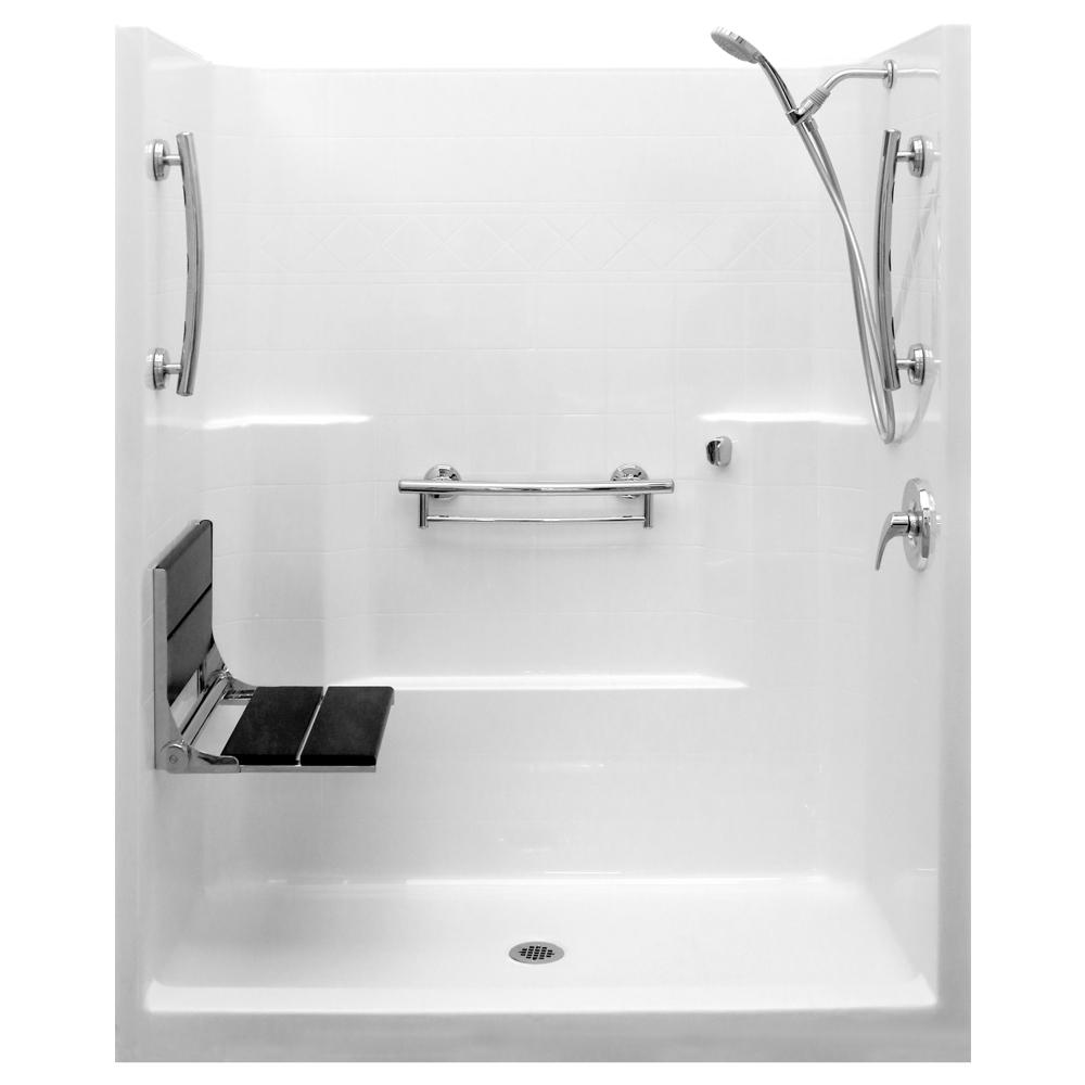 Ella - Fiberglass - Shower Stalls & Kits - Showers - The Home Depot