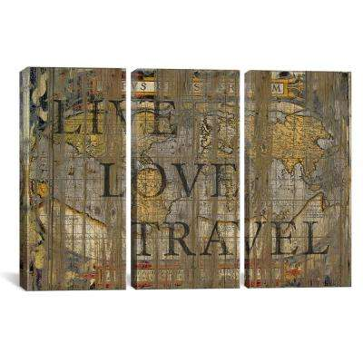 """""""Live Love Travel"""" by Diego Tirigall Canvas Wall Art"""