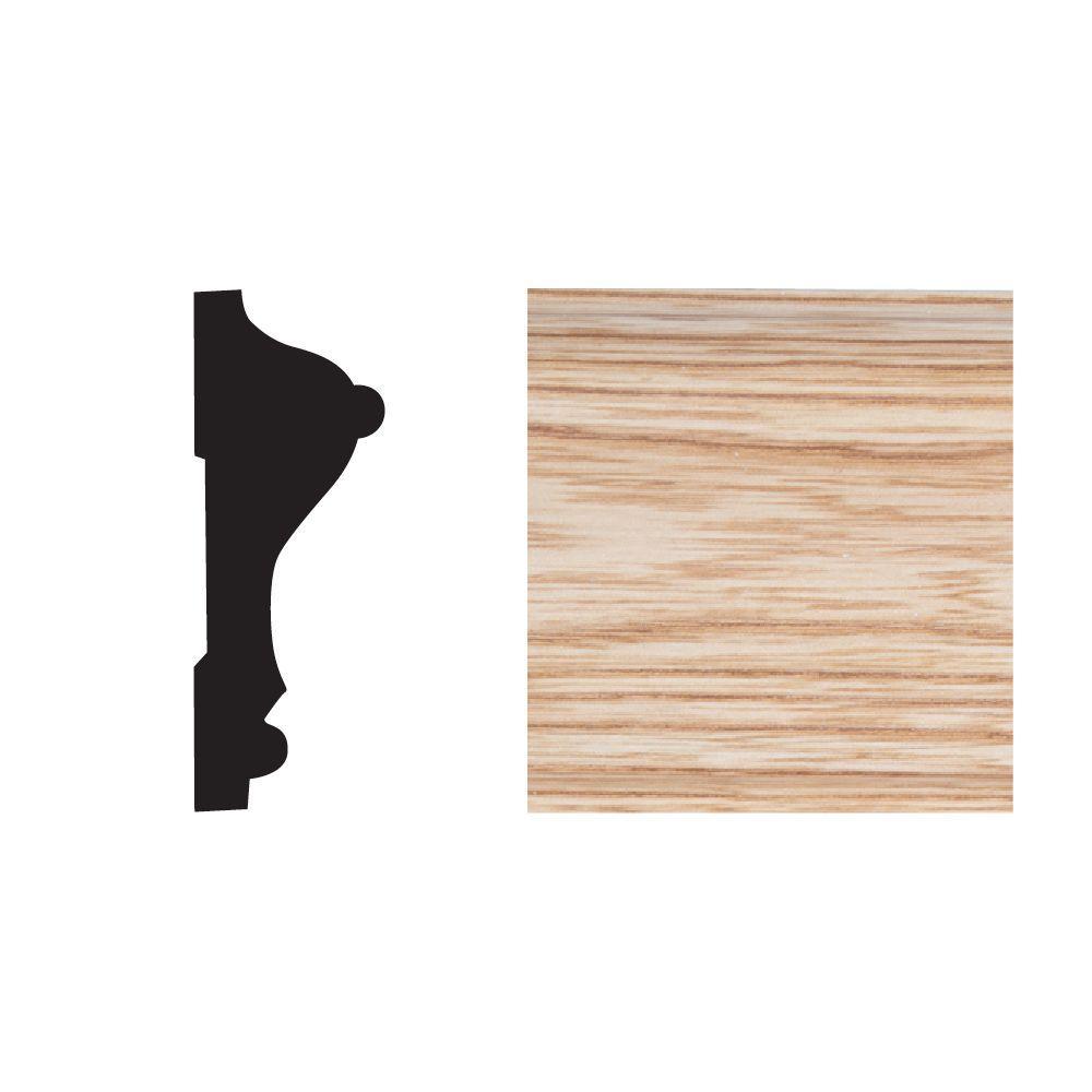 Royal Mouldings 5390 11/16 in. x 2-5/8 in. x 8 ft. PVC Composite Imperial Oak Chair Rail Moulding
