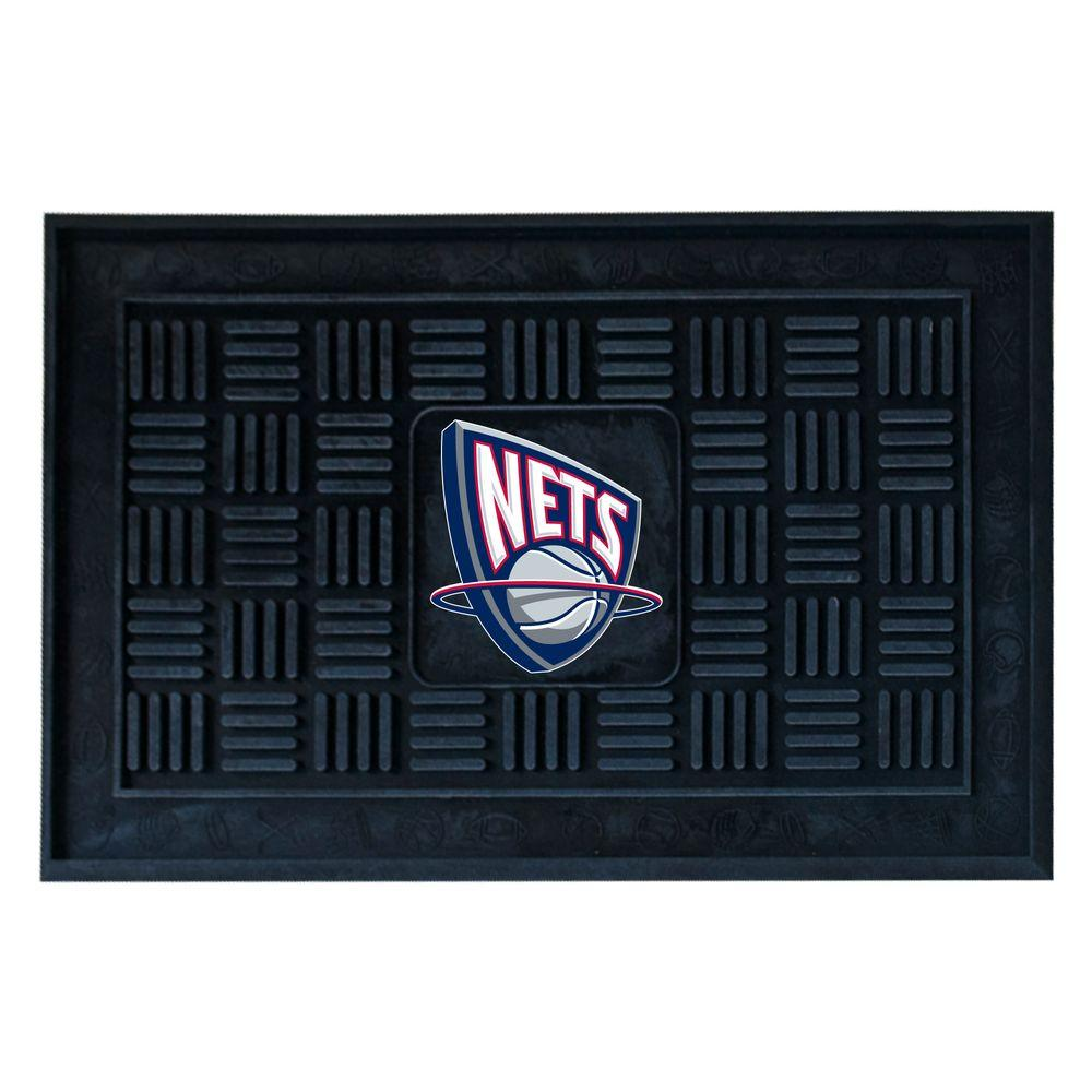 brand new 13004 82d58 FANMATS New Jersey Nets 18 in. x 30 in. Door Mat